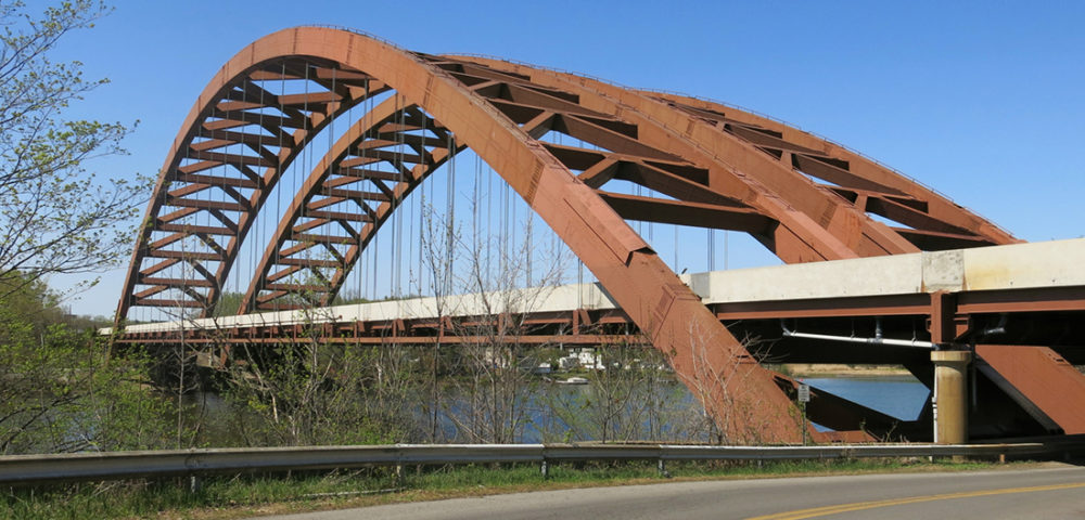Thaddeus Kosciusko Bridge, also referred to as the Twin Bridges, or Dolly Parton Bridge over the Mohawk River in the city of Halfmoon and Colonie, New York, which are in Albany and Saratoga Counties, respectively.
