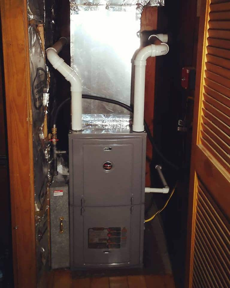 New Ruud Furnace installed Queensbury, NY