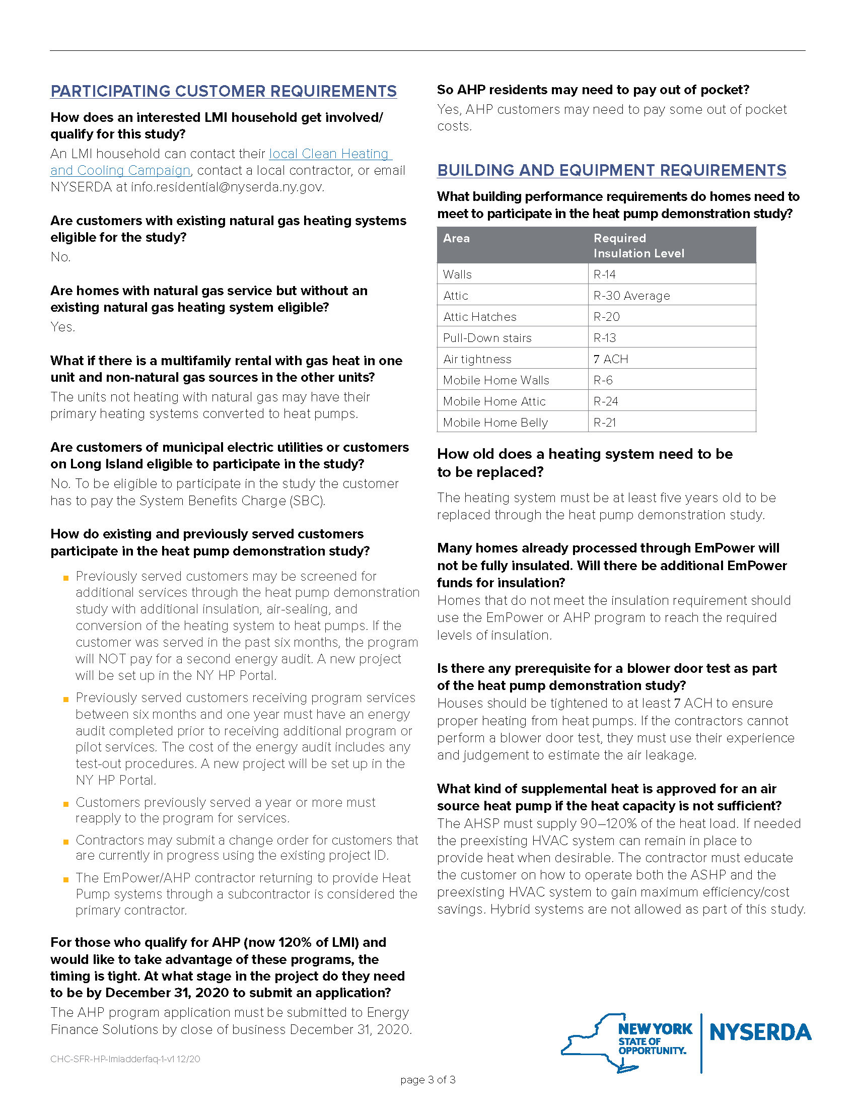 Heat Pump Demonstration Study