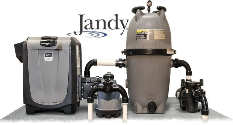 A traditional electric pool heater draws outside air in and circulates this air through an outer evaporator air coil.