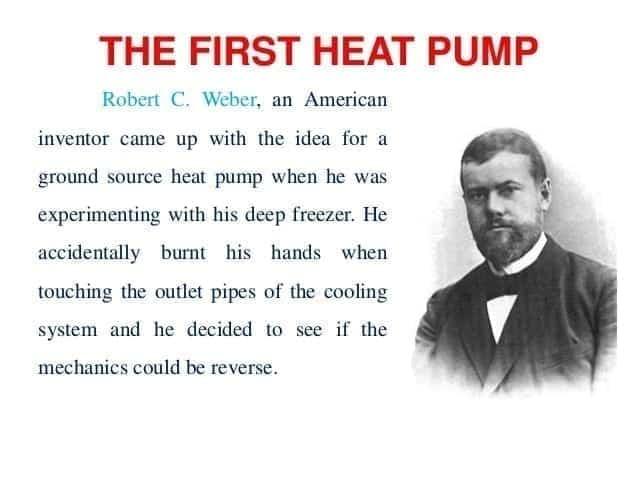 first modern day heat pump invented